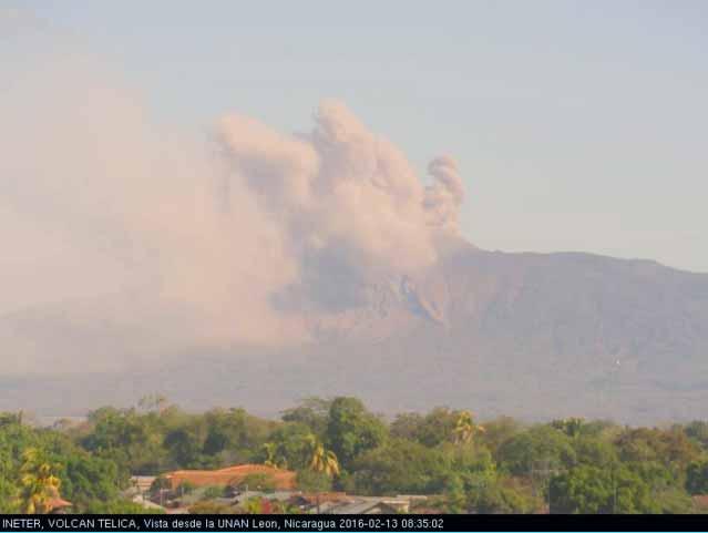 Eruption of Telica last Saturday (INETER)