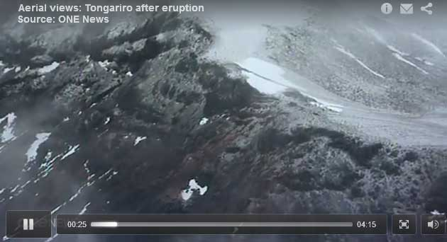 Aerial view of the eruption area