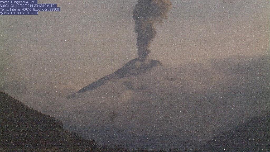 Explosiegevaar als gevolg van Tungurahua gisteren avond
