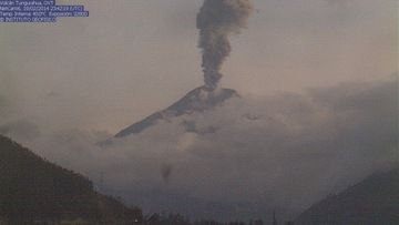 Explosion from Tungurahua yesterday evening