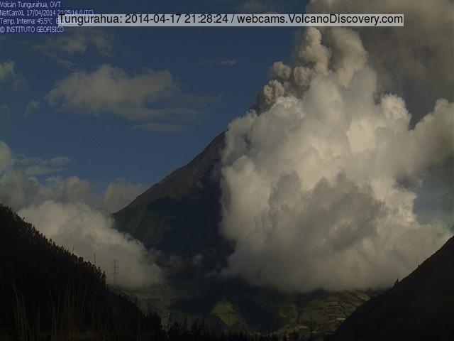 Explosie in Tungurahua vorge nacht