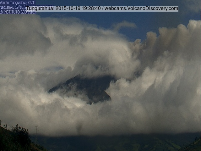 Ash emission from Tungurahua yesterday