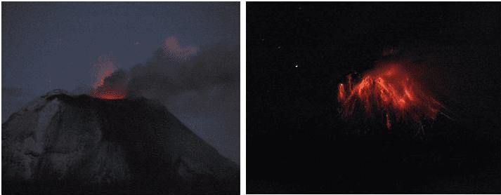 Strombolian activity of Tungurahua today (OVT/IGEPN)
