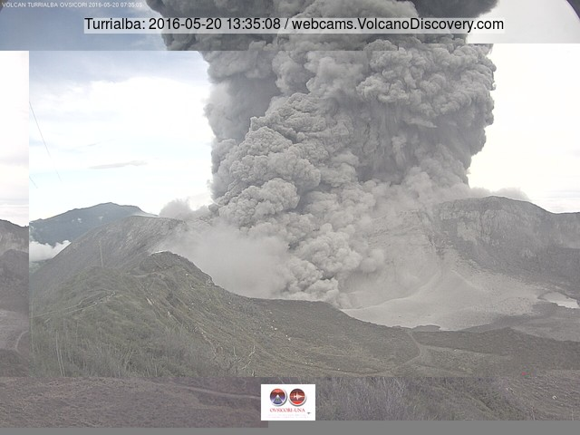 Explosion of Turrialba today (OVSICORI-UNA webcam)