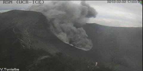 Ash plume from Turrialba volcano yesterday (RSN)