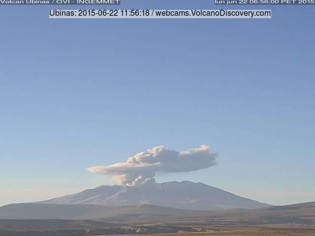 Eruption of Ubinas volcano today