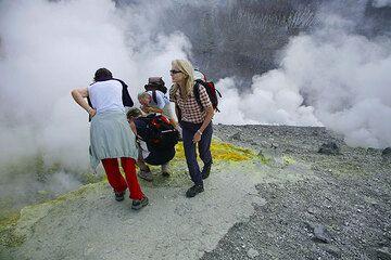 On the crater rim of Fossa (Vulcano Island)