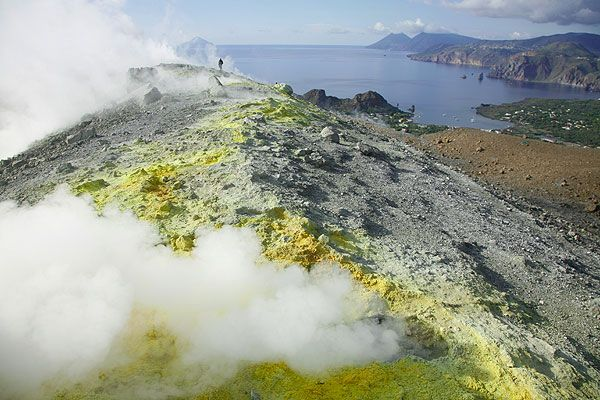 Fumaroles on Vulcano Island
