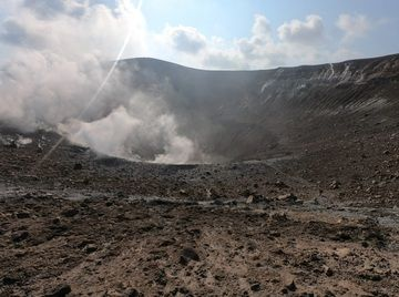 Gas emissions emitted from Fossa crater on 29 September (image: INGV)