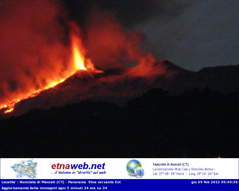 Etna views from the EtnaWeb.net webcam in Mascali (view from the East)