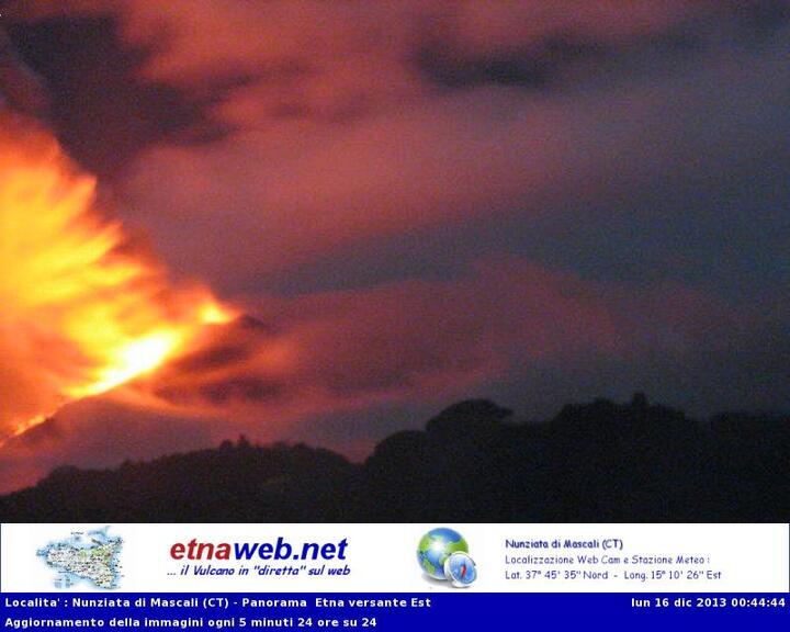 Lava flow from Etna (Etnaweb webcam)