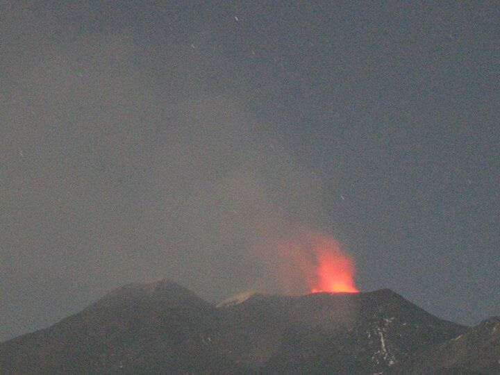 Strombolian activity at the NE crater this evening