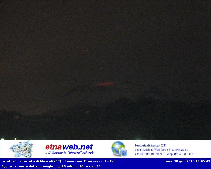 Etna tonight (Etnaweb webcam)