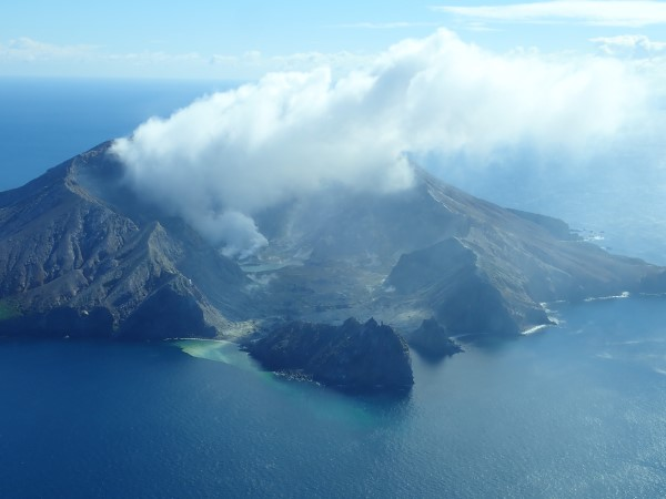 Gas flight conducted on 30 April over White Island volcano (image: GeoNet)