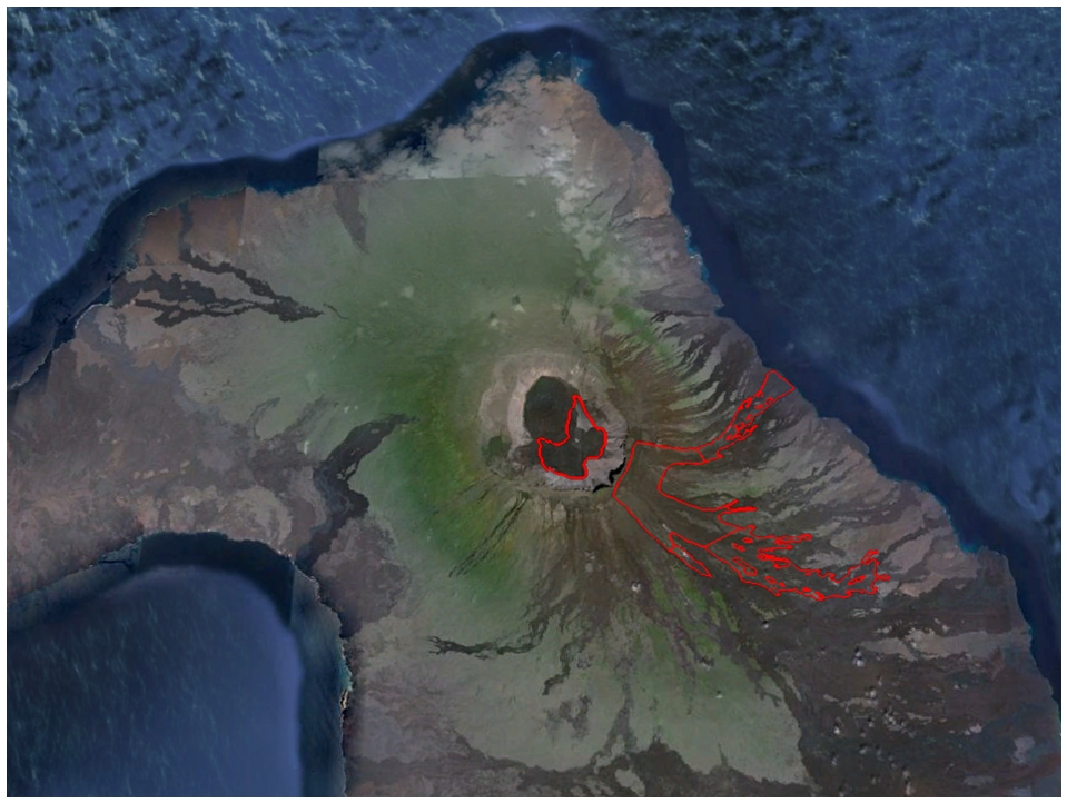 Map of lava flows during the current eruption (IGPEN)