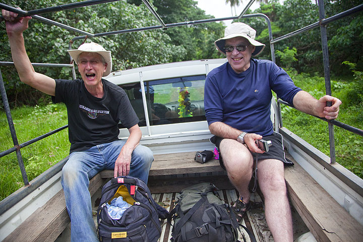 Brian and Roger on their way to Yasur volcano