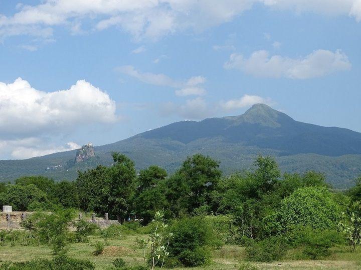 View of Popa volcano