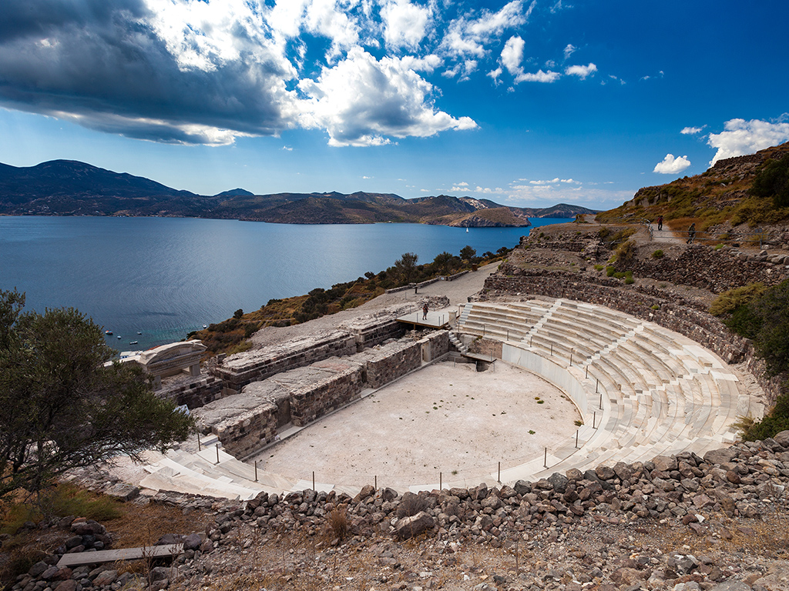 The ancient theatre of Milos
