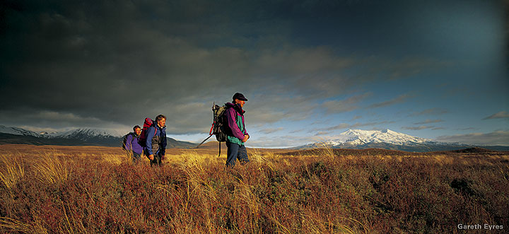 Hikers on the Tongariro trail (photos: Gareth Eyres)