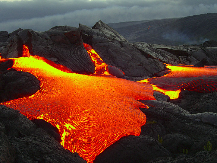 Lava from Kilauea volcano (Hawai'i)