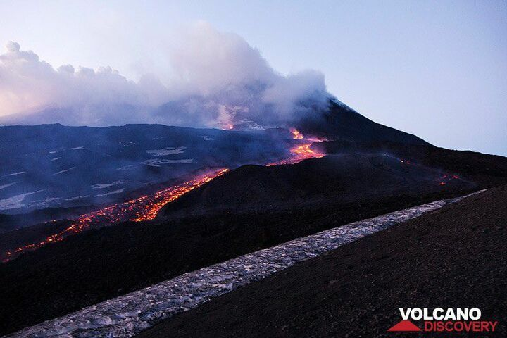 Etna's lava flow in late March 2017