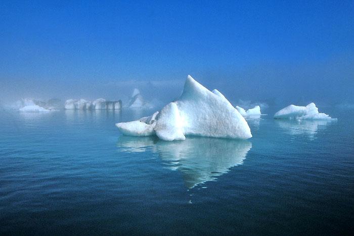 Ice lagoon at the foot of Vatnajökull glacier