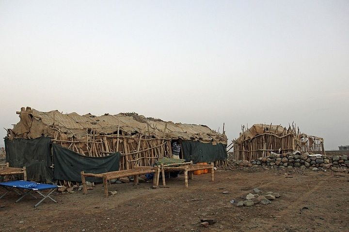 The Afar village of Hamed Ela where we set up camp for 2 nights, sleeping on wooden beds underneath the stars (Jay Ramji - February 2016)
