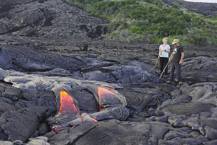 Observing fresh lava outbreaks