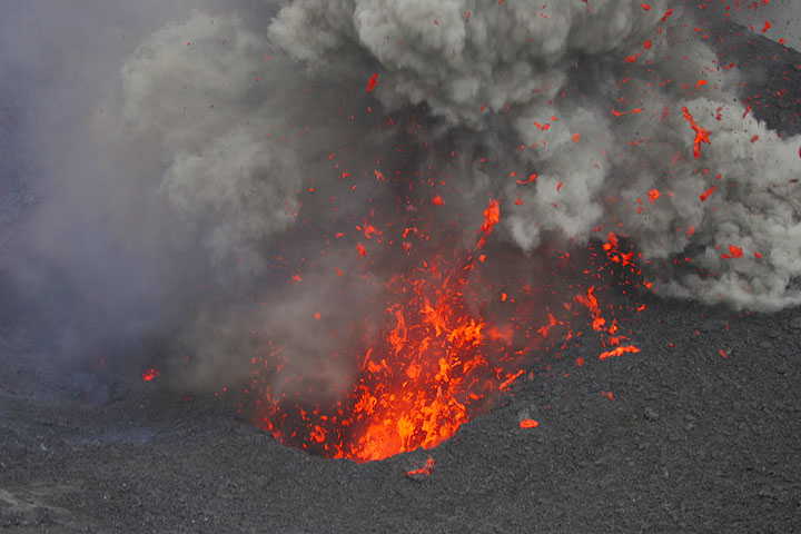 Strombolian eruption at Yasur