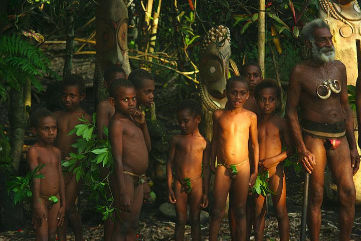 Inhabitants of a kastom village (Vanuatu)