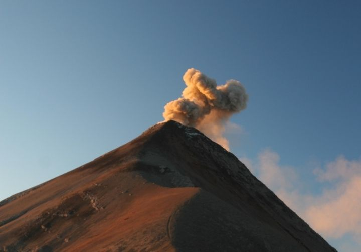 Fuego volcano in the morning