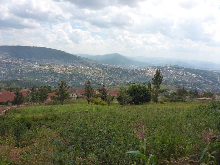 View onto part of Kigali, Rwanda´s capital that is spread across a number of hills and valleys