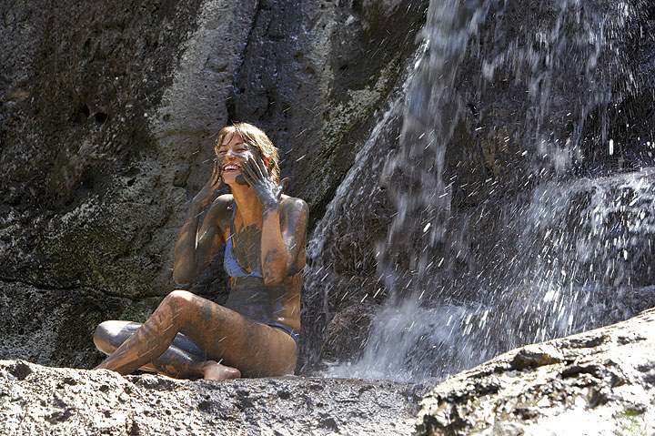 Rotorua's gloopy grey geothermal mud is believed to have special properties. (photo: Chris McLennan)