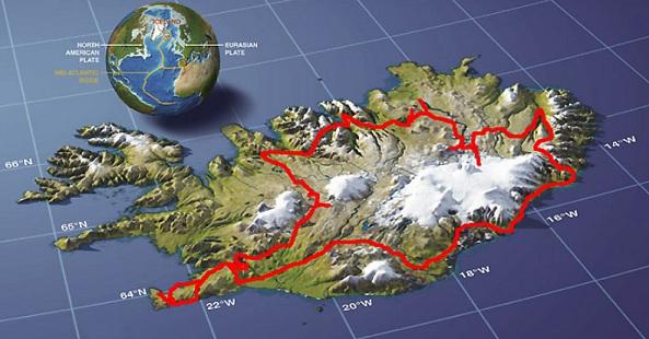Tour itinerary around Iceland