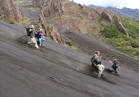Descend into the Valle del Bove along a steep ash slope (this is great fun!)