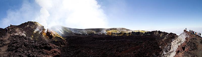 Blick in den Krater des Ätna