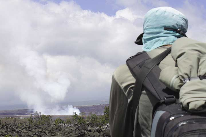 Photographing lava flows