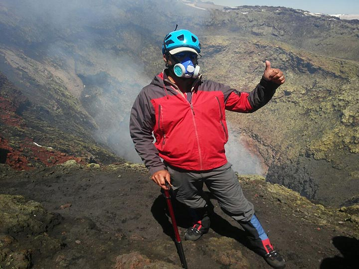 At the crater of Villarrica