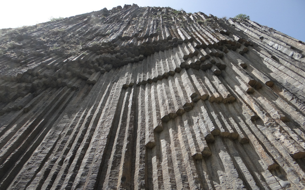 "Basalt columns in the gorge ""Symphony of Stones"""