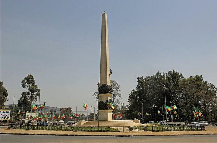 Yekatit 12 Square (Sidist Kilo) monument in Addis Ababa (Jay Ramji - February 2016)