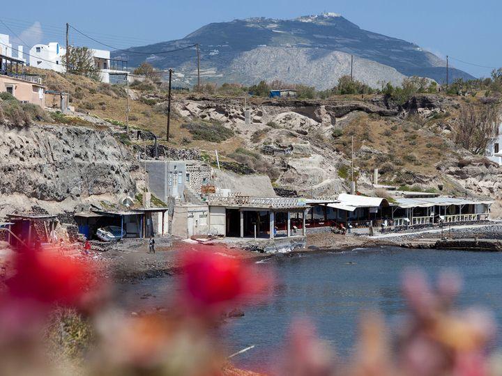 Die Tavernen in Acrotiri (Süd)