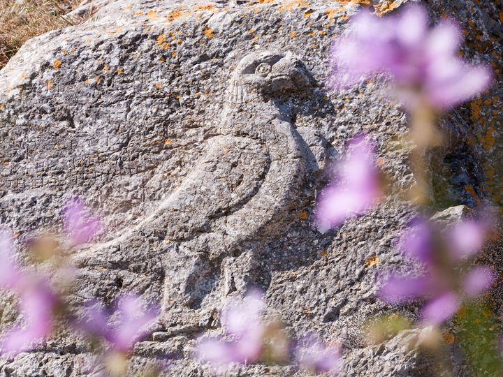 The ancient eagle in ancient Thira