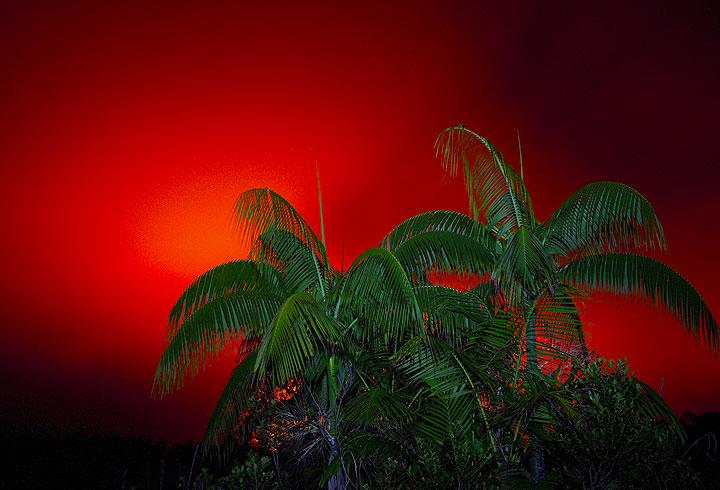 Glow from Ambrym volcano