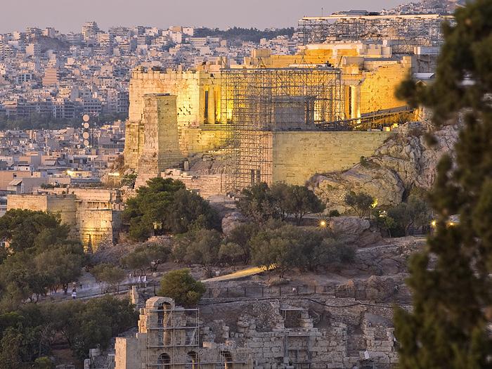 Die Propyläen - der Eingang zur Akropolis