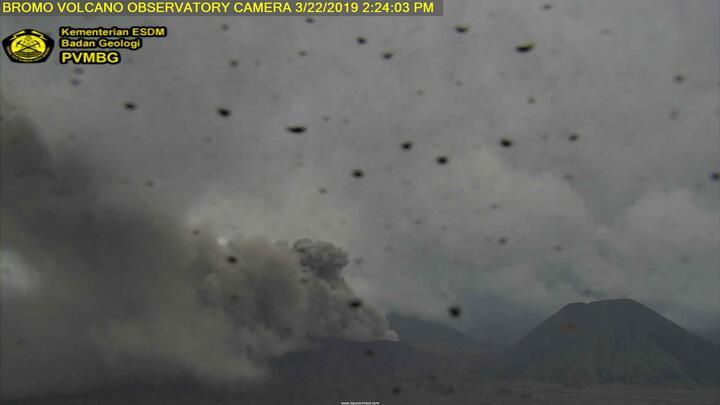 Eruption of Bromo in Mar 2019