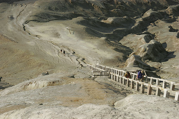 The stairway leading to Bromo's crater