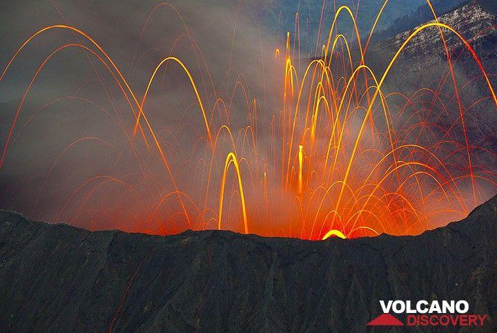 Eruption of Bromo in 2010
