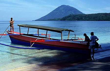Sailing to Bunaken island