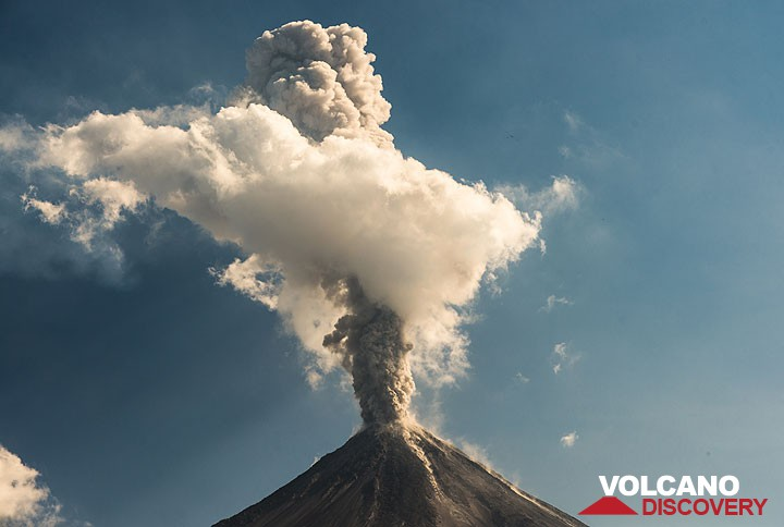 Ash column of an explosion at Colima