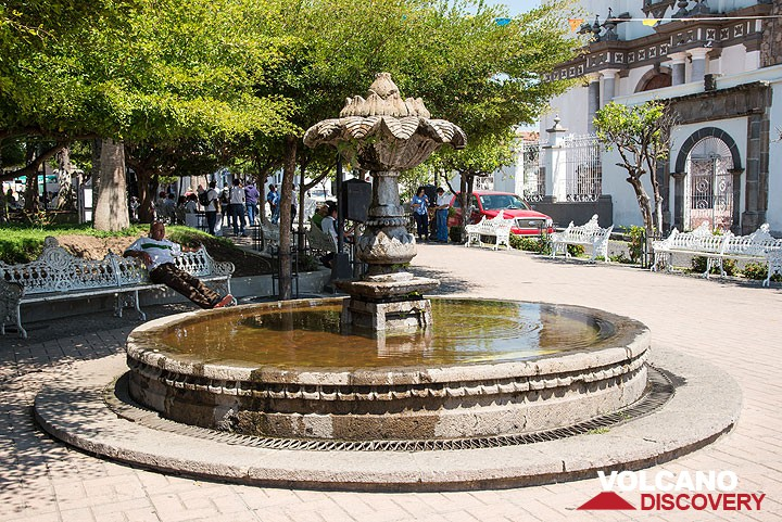 Square in picturesque Comala town